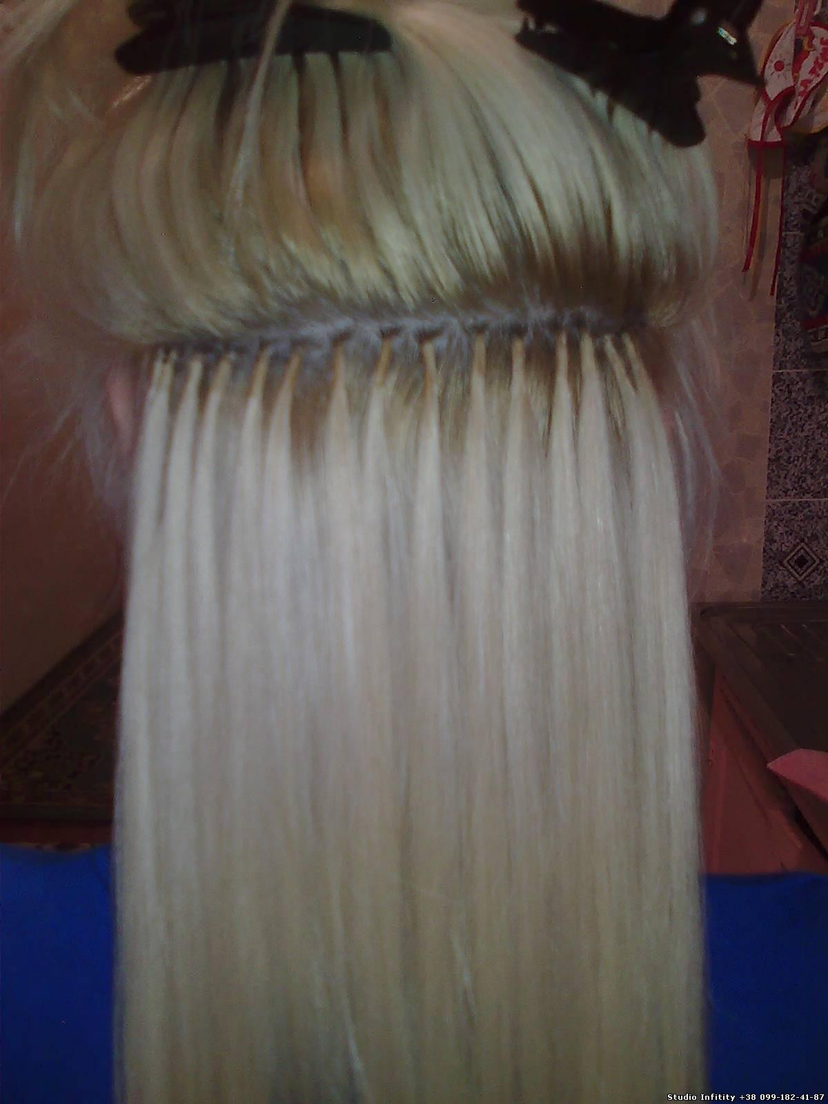 Как сделать мелирование на нарощенные волосы